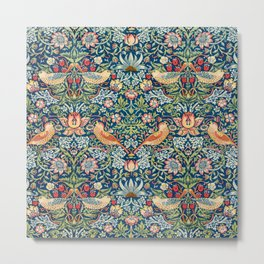 The strawberry thieves pattern by William Morris Metal Print