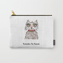 Remember The Animals Cute Cat T-Shirt Carry-All Pouch