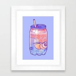 Peach Bubbles Framed Art Print