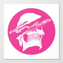 Liquify skull in hot pink Canvas Print