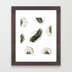 Palm + Geometry V2 #society6 #decor #buyart Framed Art Print