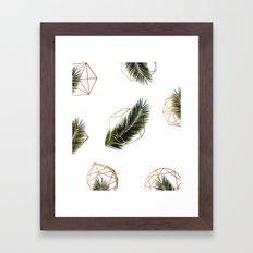 Palm + Geometry V2 #society6 #decor #buyart Framed Art Print