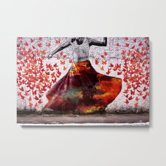 Flying Skirt Metal Print