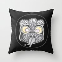 panic at the disco Throw Pillows featuring Panic by Conceptualized