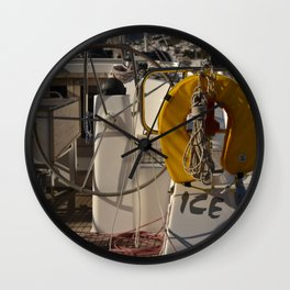 sailing in bodrum Wall Clock