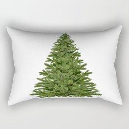 Green beautiful christmas tree Rectangular Pillow