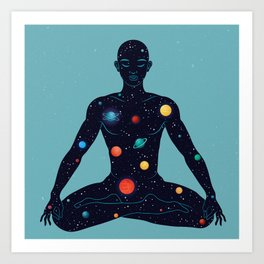 Yoga man Art Print