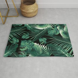 Tropical Jungle Leaves Dream #6 #tropical #decor #art #society6 Rug