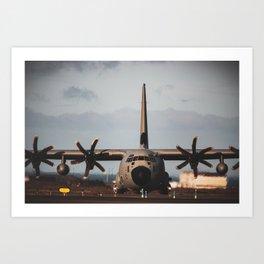 C-130 nose on Art Print