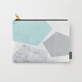 Geo marble and turquoise Carry-All Pouch