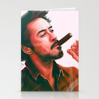 actor Stationery Cards featuring Mr Downey, Jr. by Thubakabra