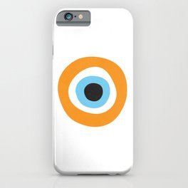 Orange Evil Eye Symbol iPhone Case