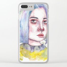 withering flowers Clear iPhone Case