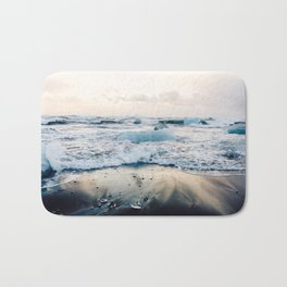 Diamond Beach, Iceland Bath Mat