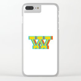 Letter W Clear iPhone Case