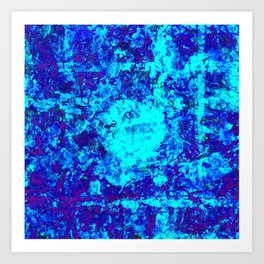 AQUA - Abstract blue water painting Art Print