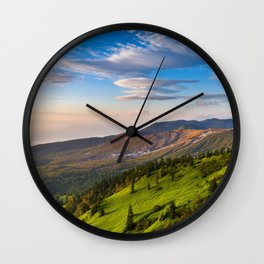 Natures Mountains Wall Clock