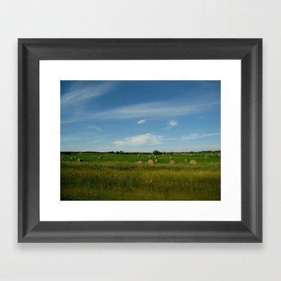 Summertime in WaterValley Framed Art Print