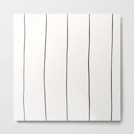 MOD_WigglyLinesLight_Charcoal Metal Print