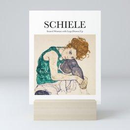 Schiele - Seated Woman with Legs Drawn Up Mini Art Print