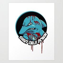 Shut Taiji Down - Blue Art Print
