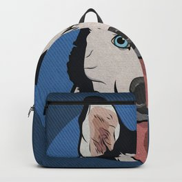 Icons of the Dog Park: Husky Design in Bold Colors for Pet Lovers Backpack