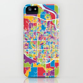 Lawrence Kansas City Map iPhone Case