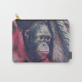 GlitzyAnimal_OrangUtan_002_by_JAMColors Carry-All Pouch