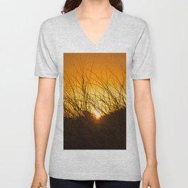 Grass and Sunrise Unisex V-Neck