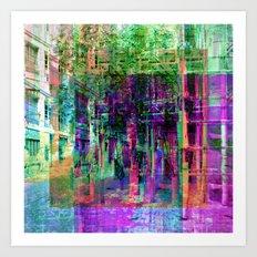 Detours, like huddled hurdles. Art Print