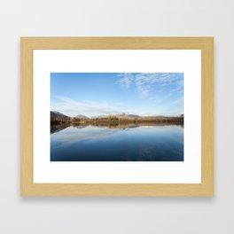 A blue lake Framed Art Print