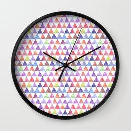 pastel triangles ikat print mini Wall Clock