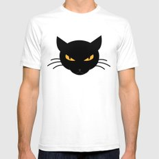 Evil Kitty Mens Fitted Tee White SMALL