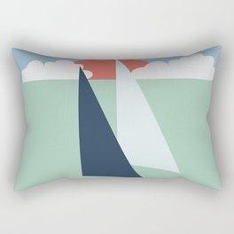 Regatta pastel Rectangular Pillow