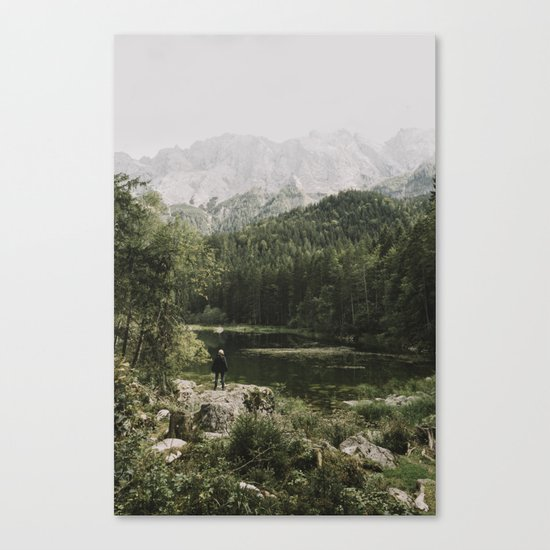In silence - landscape photography Canvas Print