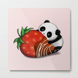 Pandaberry Metal Print