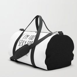 Too Sexy For Ex Funny Quote Duffle Bag
