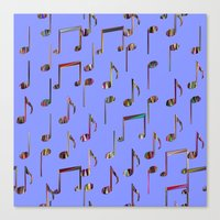 music notes Canvas Prints featuring Music Notes by pugmom4