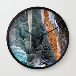 Frozen Waterfall  Hanging Lake Winter Colorado Wall Clock