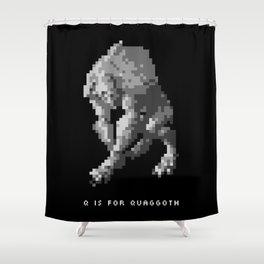 Q is for Quaggoth Shower Curtain