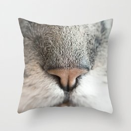 Extreme Nose-up Throw Pillow