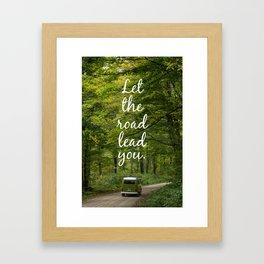 Let the road lead you - Summer Framed Art Print