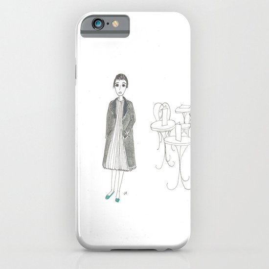 cafe girl iPhone & iPod Case