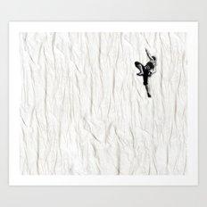 Woman Climbing a Wrinkle Art Print