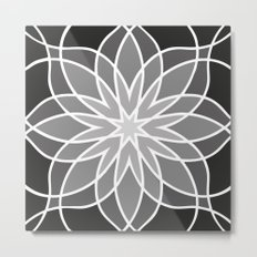 Shades of Grey | Geometric Pattern Metal Print