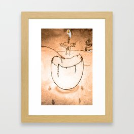 Flying egg Framed Art Print