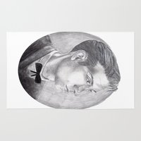 alex turner Area & Throw Rugs featuring Alex Turner Drawing by annelise johnson