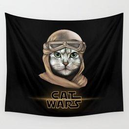 Cat Wars Rey Wall Tapestry