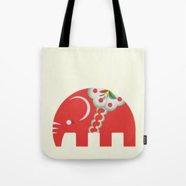 Swedish Elephant Tote Bag