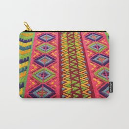 Colorful Guatemalan Alfombra Carry-All Pouch